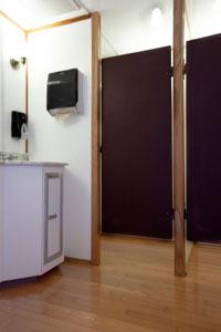 Portable Restroom Trailer Inside 2